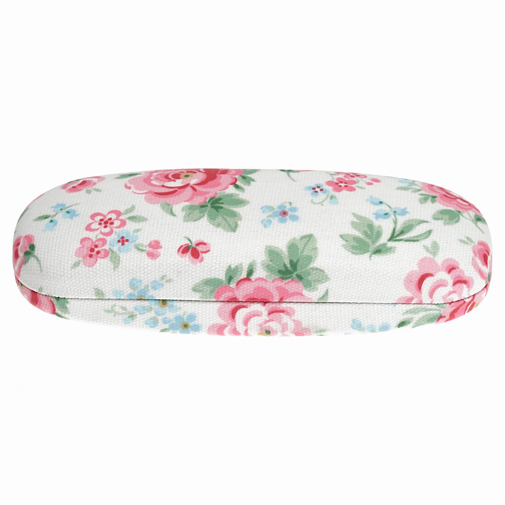 GREEN GATE Pouzdro na brýle Meryl white, růžová barva, zelená barva, bílá barva, plast, textil