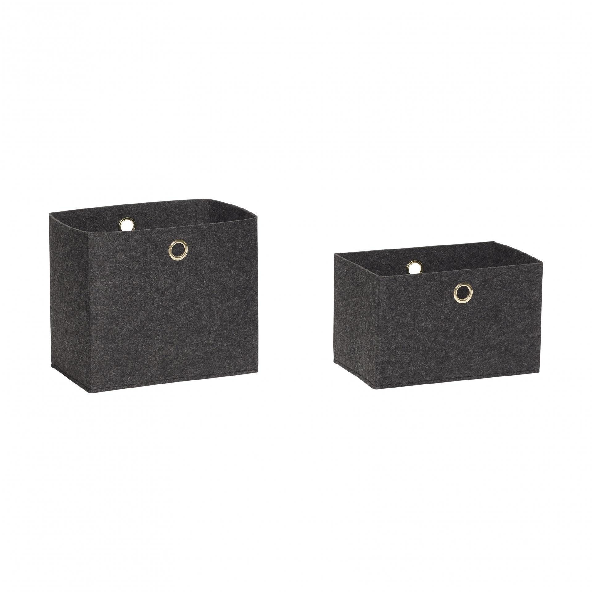 d7ec9a7da Hübsch Úložný box Felt Dark Grey Větší, šedá barva, textil