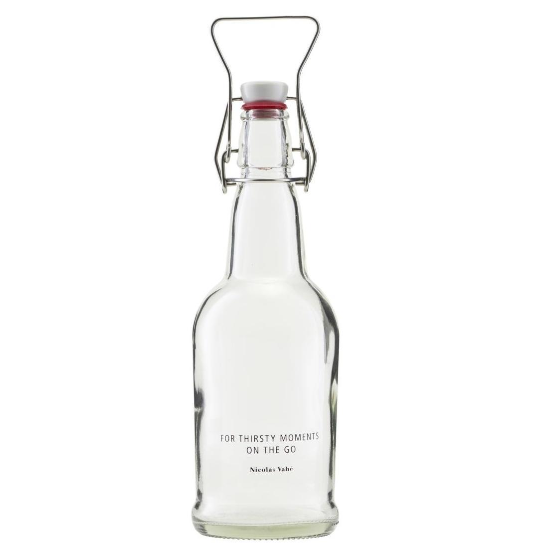 Nicolas Vahé Skleněná lahev s klipem 480 ml - čirá, čirá barva, sklo