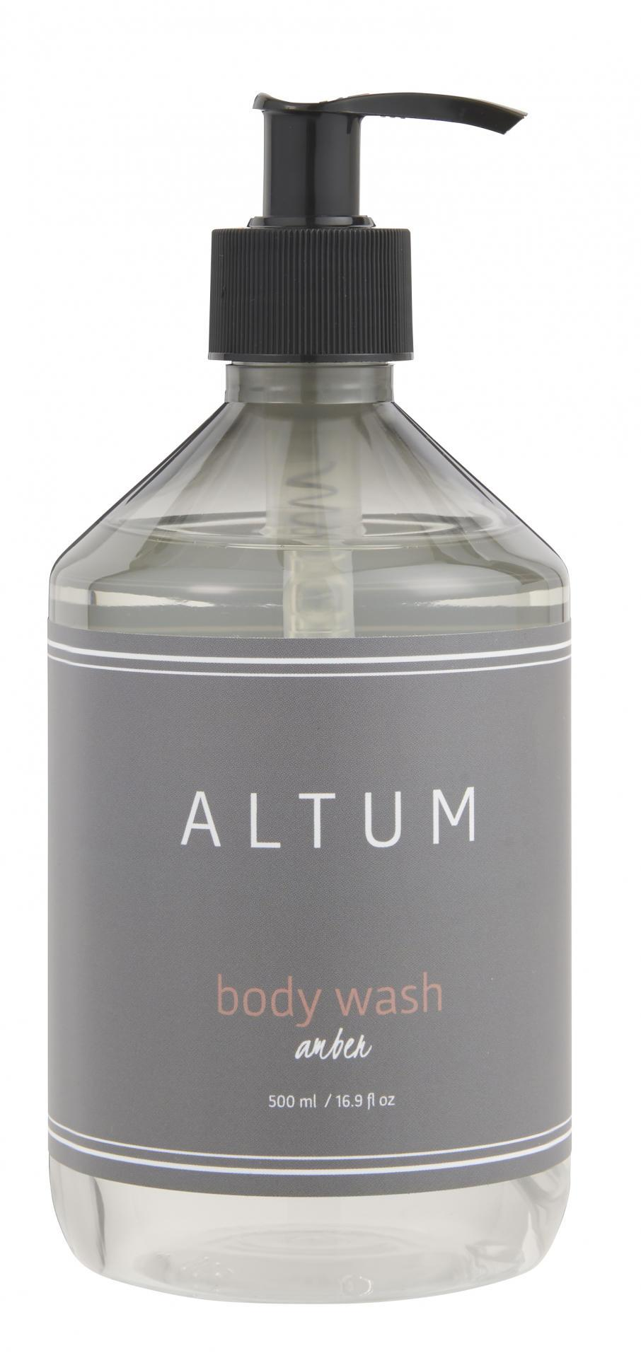 IB LAURSEN Sprchový gel ALTUM - Amber 500ml, šedá barva, plast