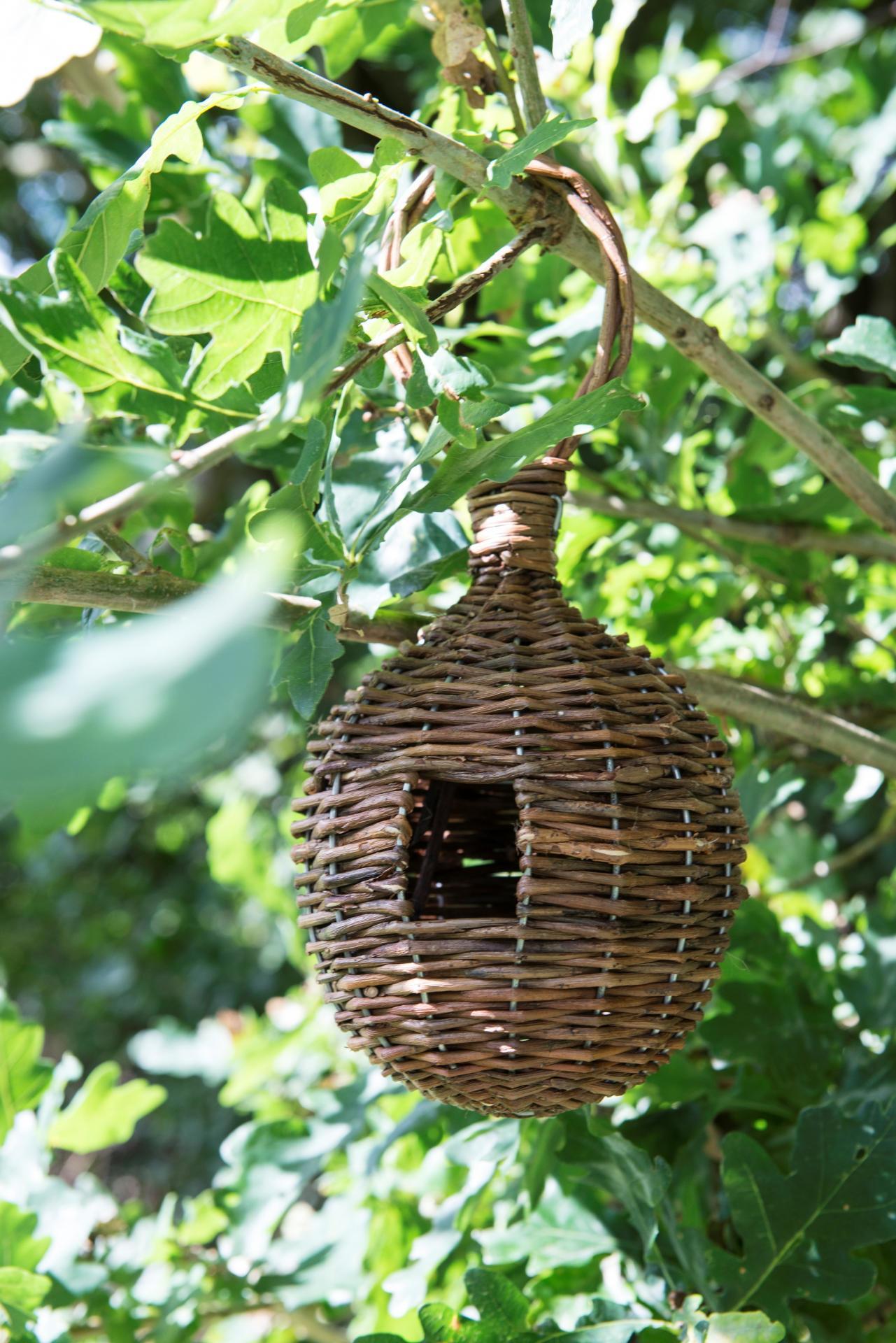 IB LAURSEN Proutěná ptačí budka, přírodní barva, proutí