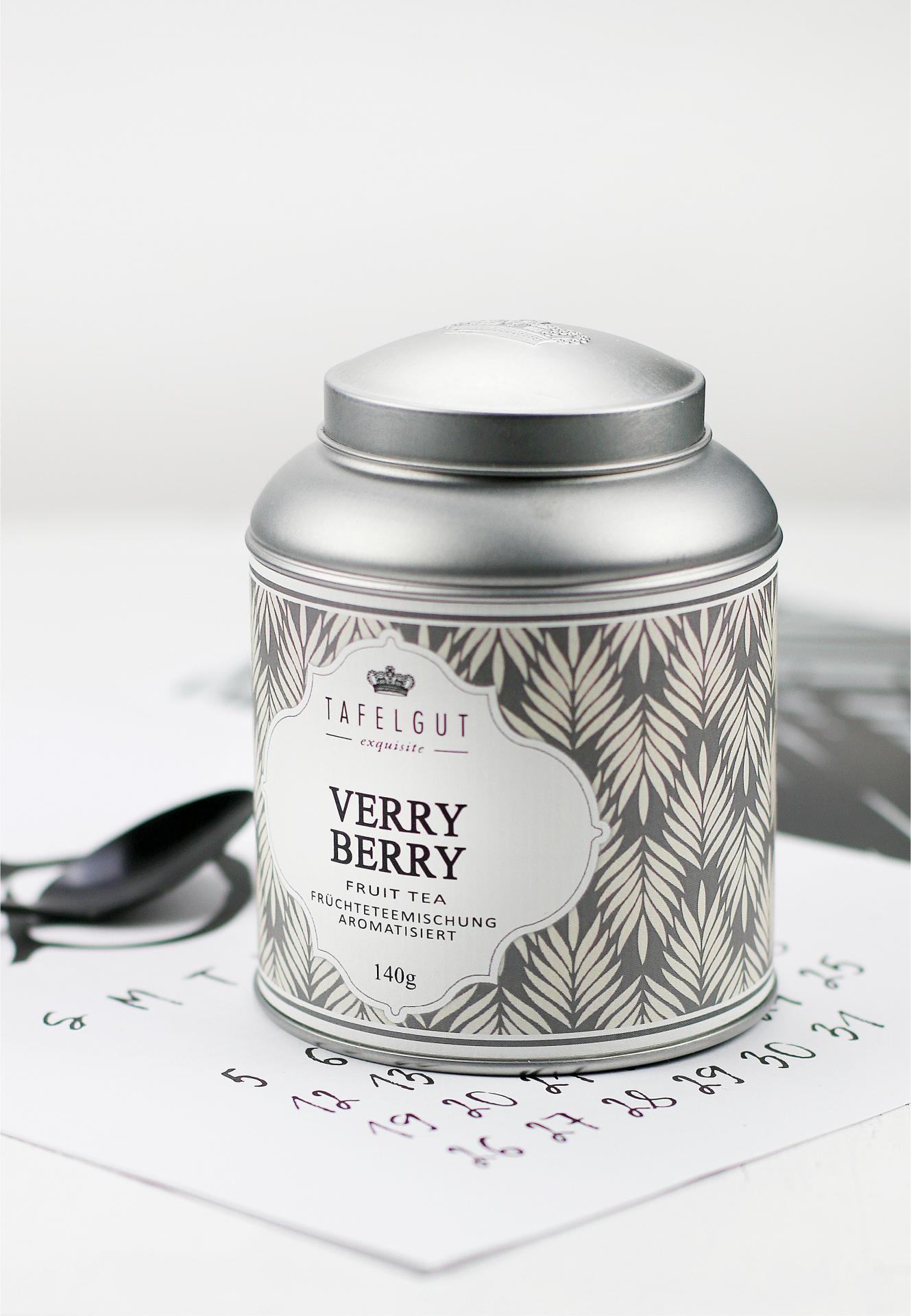 TAFELGUT Ovocný čaj Verry Berry - 140gr, šedá barva, kov