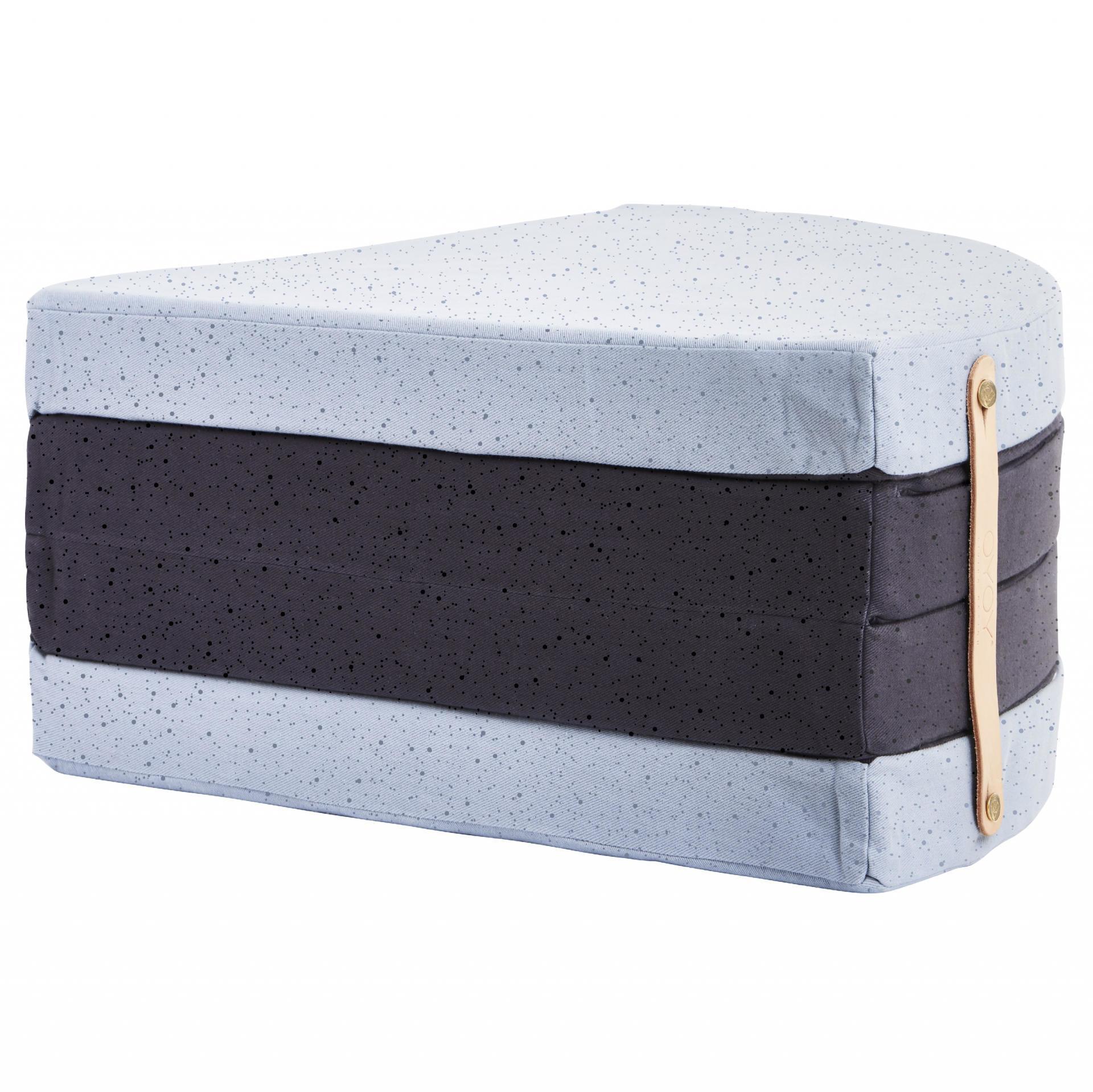 OYOY Skládací matrace A Piece of cake, modrá barva, textil