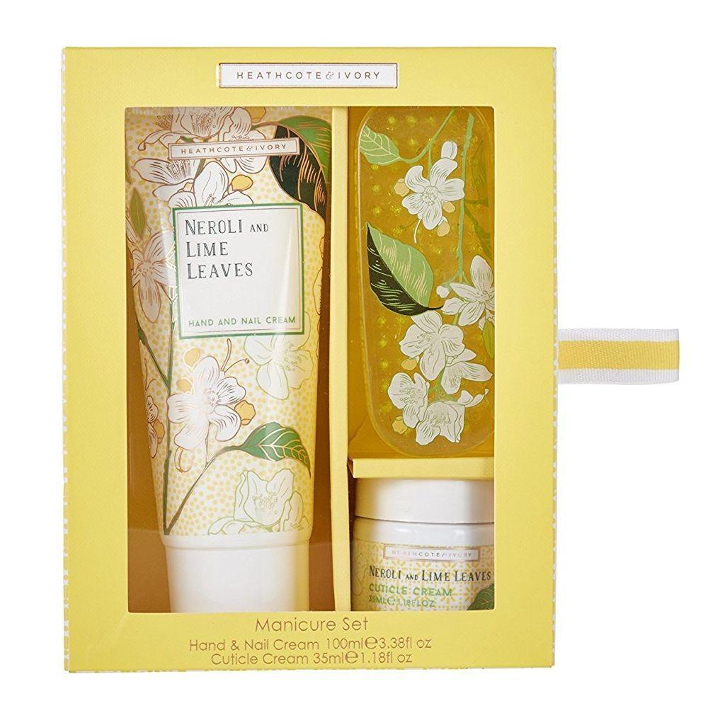 HEATHCOTE & IVORY Sada pro péči o ruce Neroli & Lime Leaves, žlutá barva