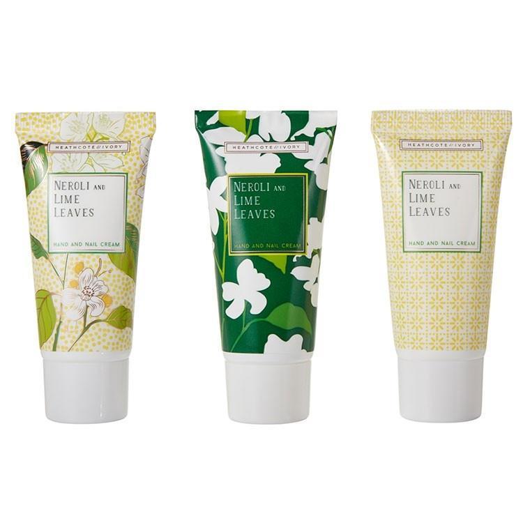HEATHCOTE & IVORY Sada mini krémů na ruce Neroli & Lime Leaves - 3x30ml, zelená barva, žlutá ba