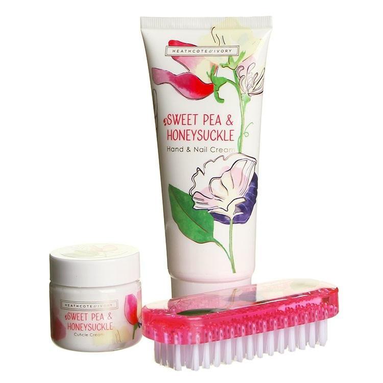 HEATHCOTE & IVORY Sada pro péči o ruce Sweet Pea & Honeysuckle, růžová barva