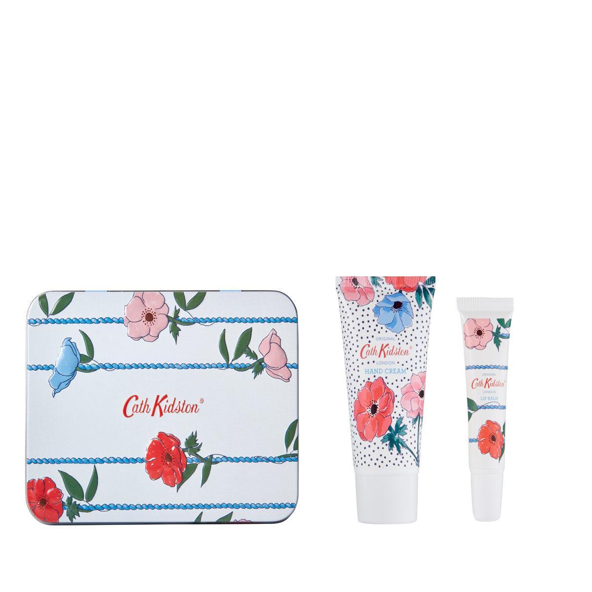 Cath Kidston Sada kosmetiky v plechové krabičce Posy Bunch, modrá barva, kov