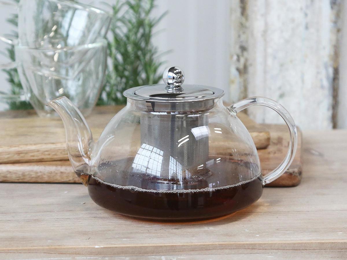 Chic Antique Konev na čaj Glass 800ml, čirá barva, sklo
