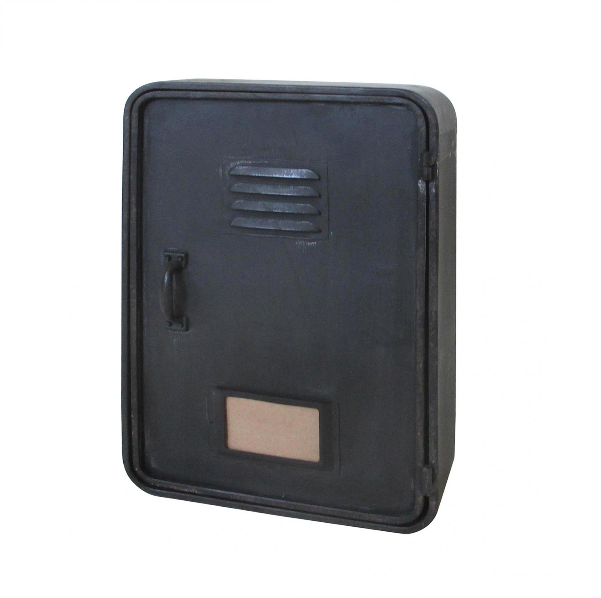 Chic Antique Skříňka na klíče Factory, černá barva, kov
