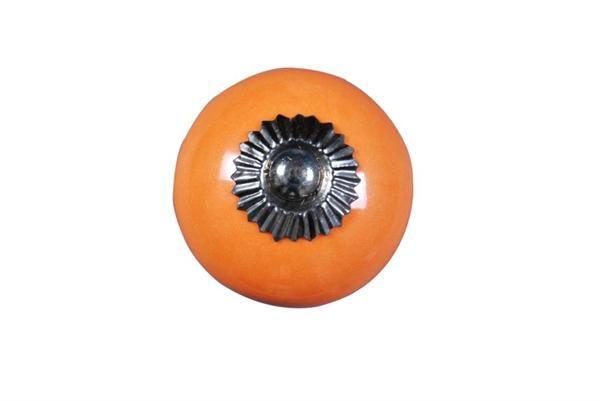 La finesse Porcelánová úchytka Orange, oranžová barva, porcelán