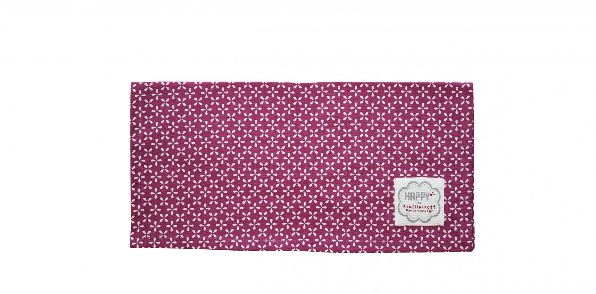 Krasilnikoff Bavlněný ubrousek Daisy Plum, růžová barva, fialová barva, textil