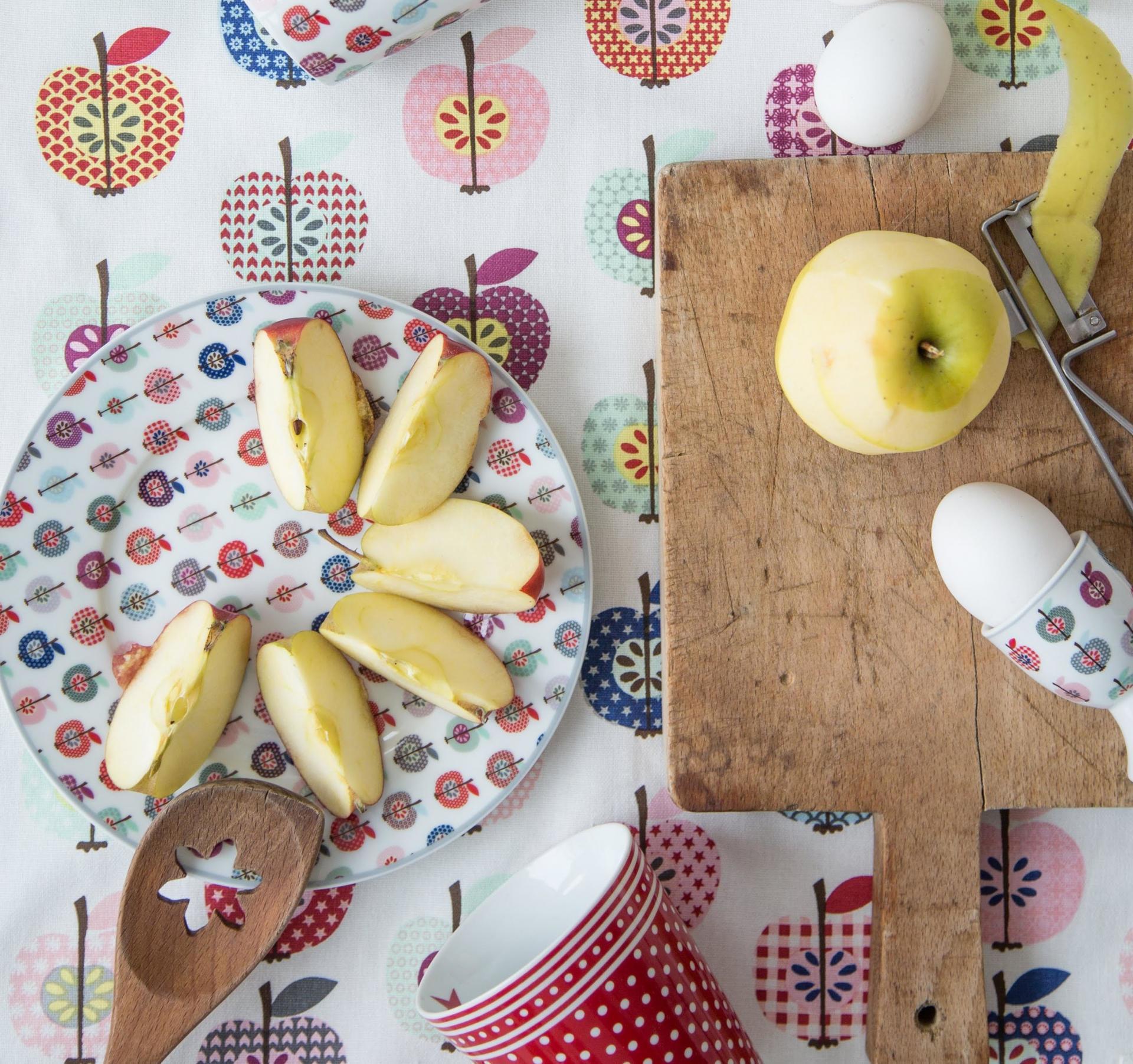Krasilnikoff Dezertní talíř Apple, multi barva, porcelán