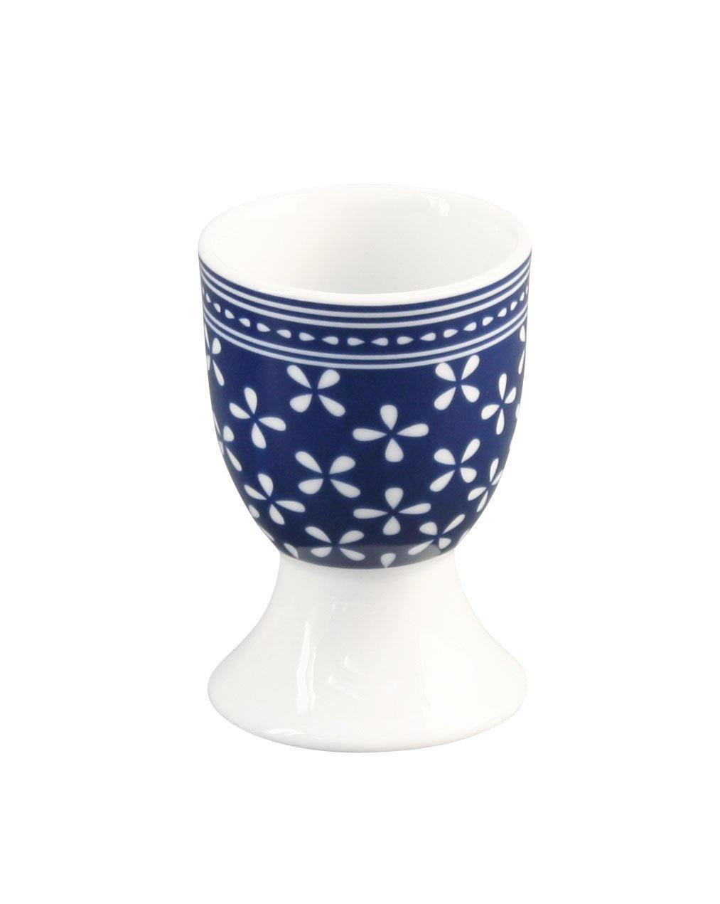 Krasilnikoff Stojánek na vajíčko Daisy Blue, modrá barva, porcelán