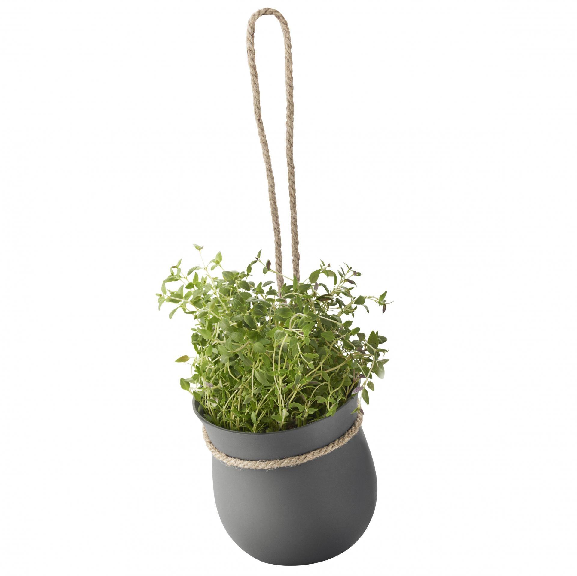 RIG-TIG Závěsný silikonový květináč Grow-it Grey, šedá barva, plast