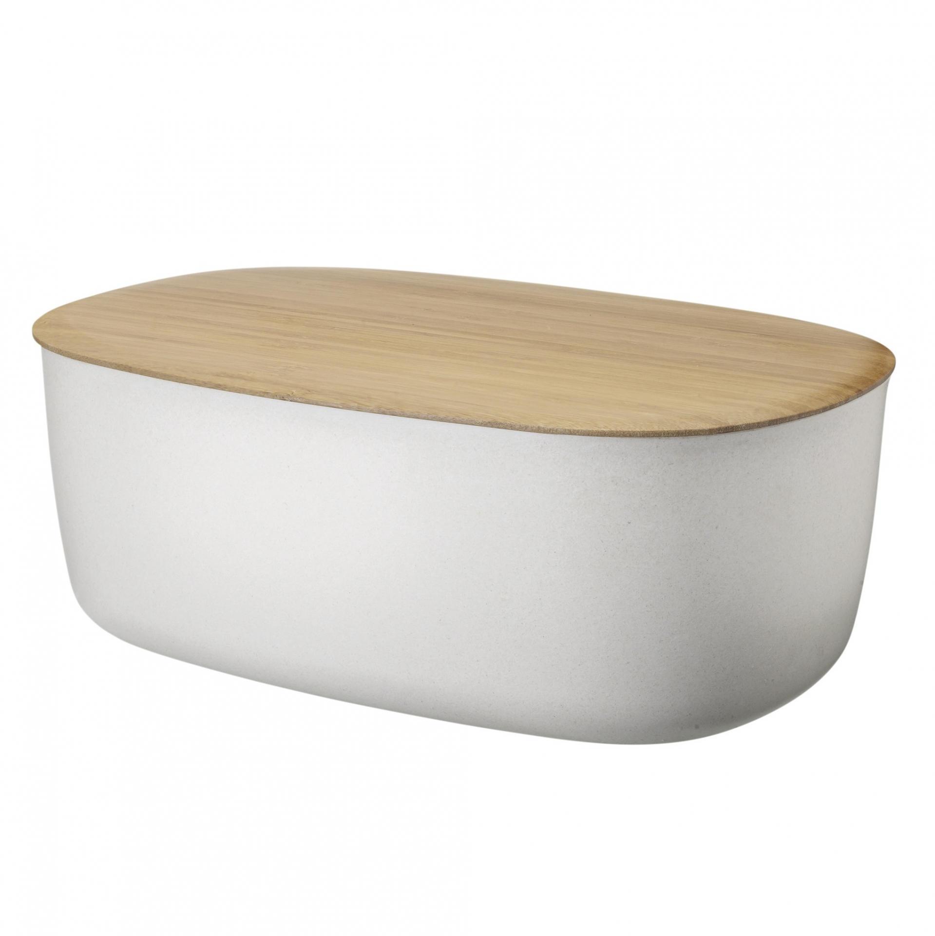 RIG-TIG Melaminový chlebník Box-it White, bílá barva, melamin