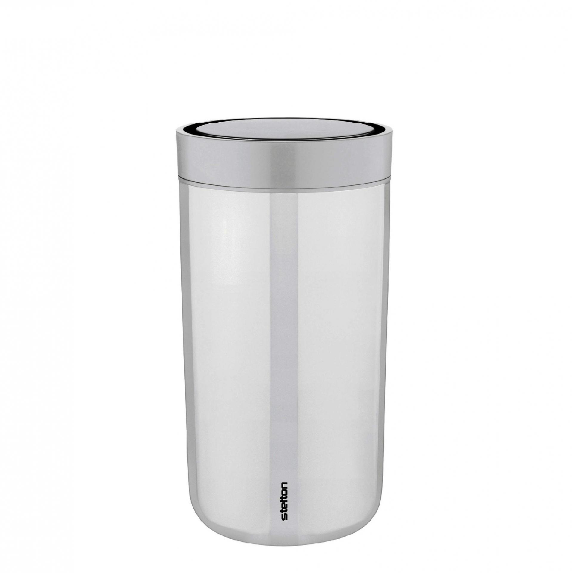 Stelton Cestovní hrnek To Go Click Chalk 200 ml, šedá barva, plast