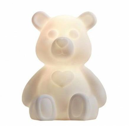 STAR TRADING Dětská LED lampička Teddybear White, bílá barva, plast