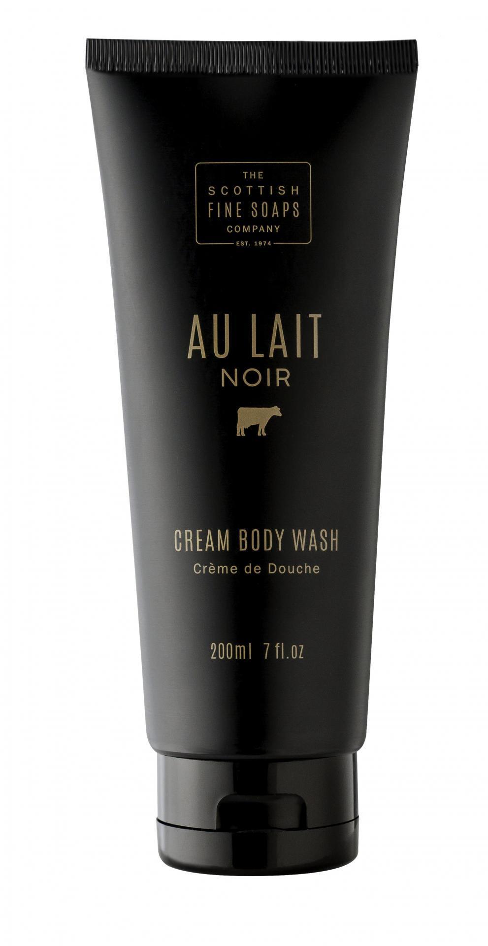 SCOTTISH FINE SOAPS Sprchový gel Au Lait Noir 200ml, černá barva, plast