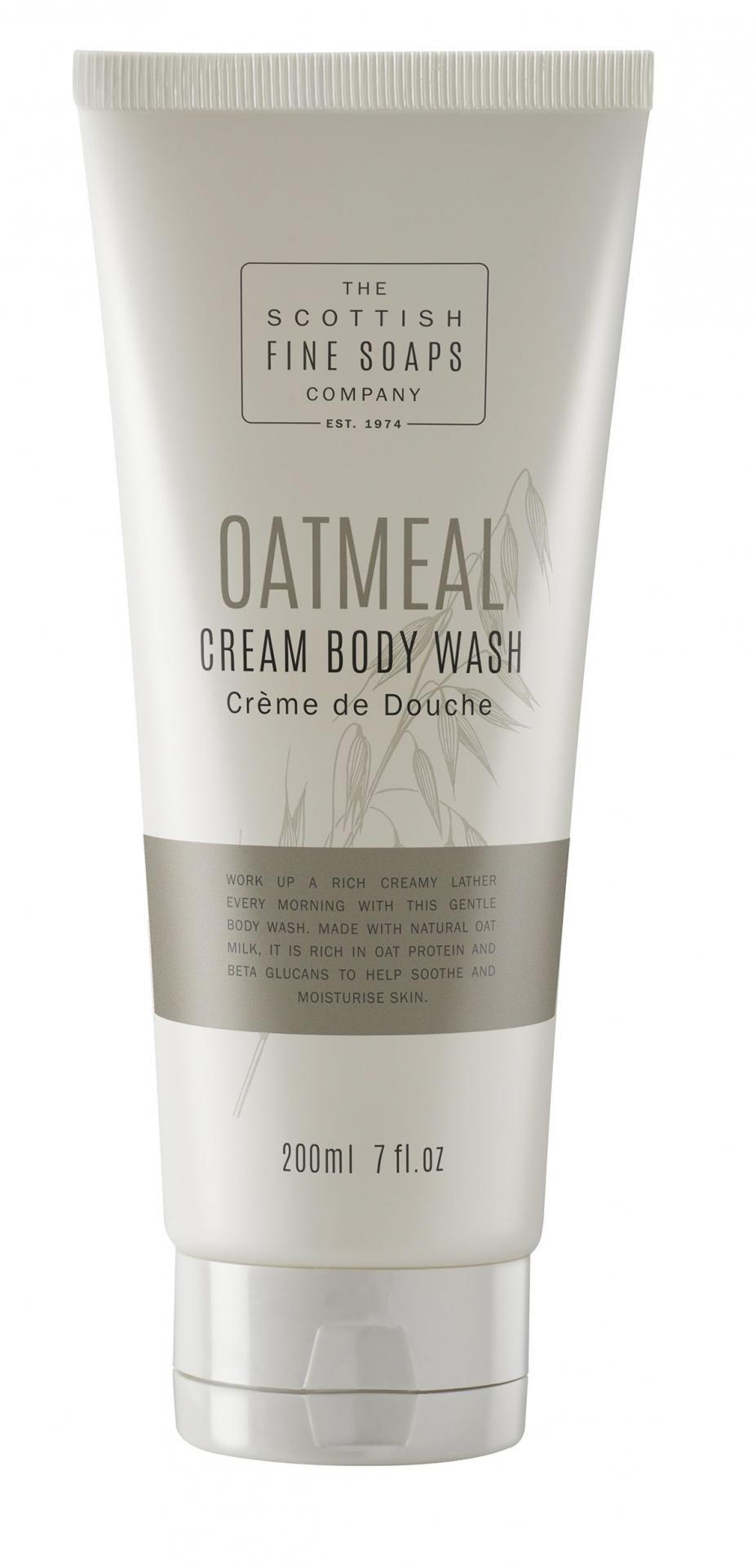 SCOTTISH FINE SOAPS Sprchový gel Oatmeal 200ml, béžová barva, krémová barva, plast