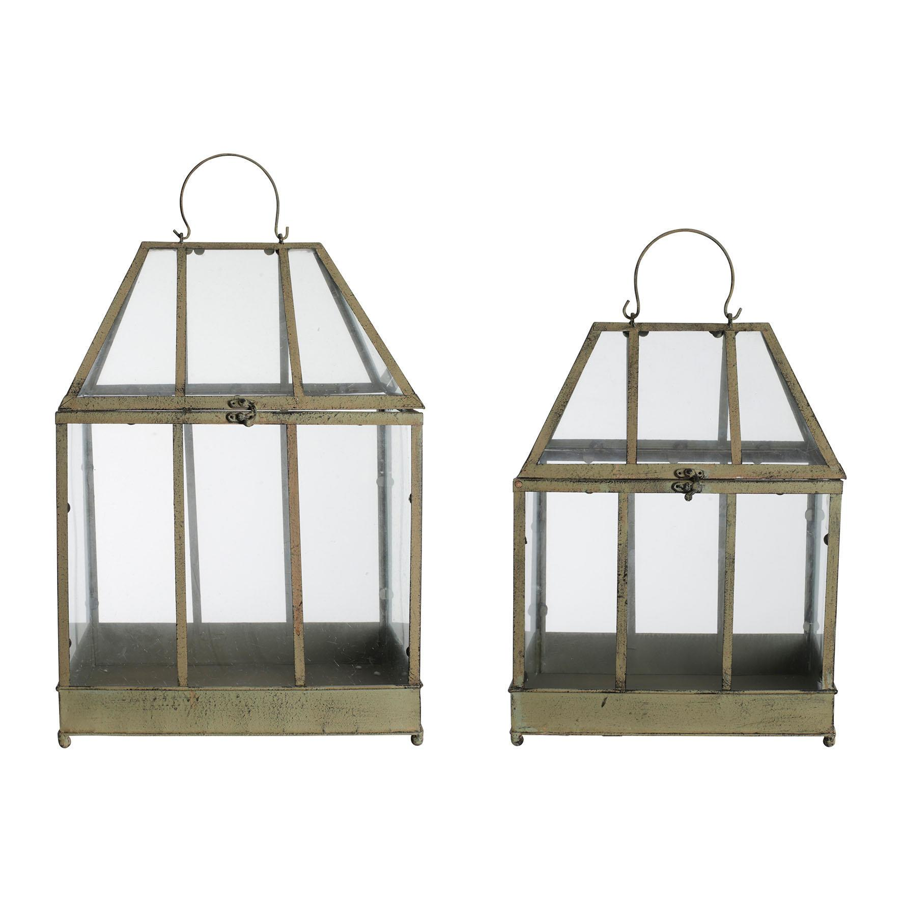 CÔTÉ TABLE Zahradní skleník Jardinet H53/46 Menší, multi barva, sklo, kov