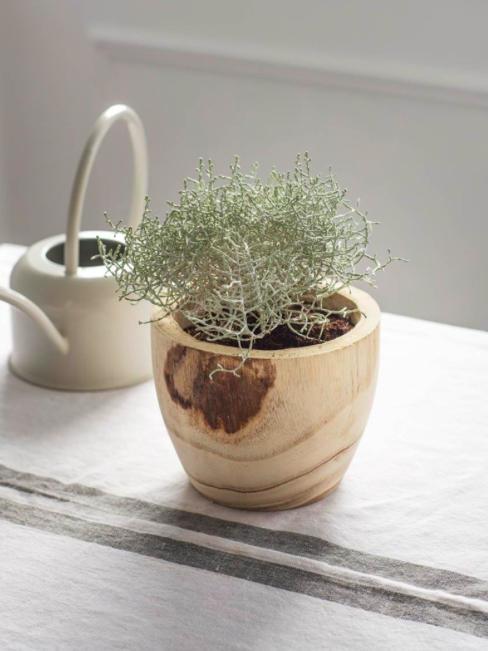 Garden Trading Dřevěný obal na květináč Finca, hnědá barva, přírodní barva, dřevo