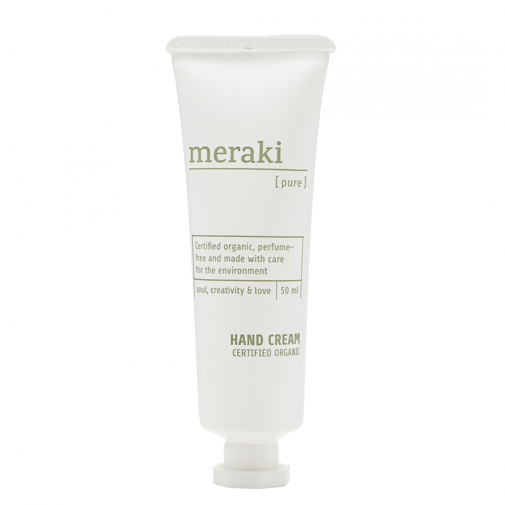 meraki Přírodní krém na ruce Meraki Pure 50 ml, bílá barva, plast