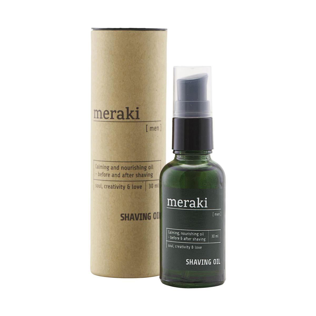 meraki Pánský olej na holení Men 30ml, zelená barva, sklo