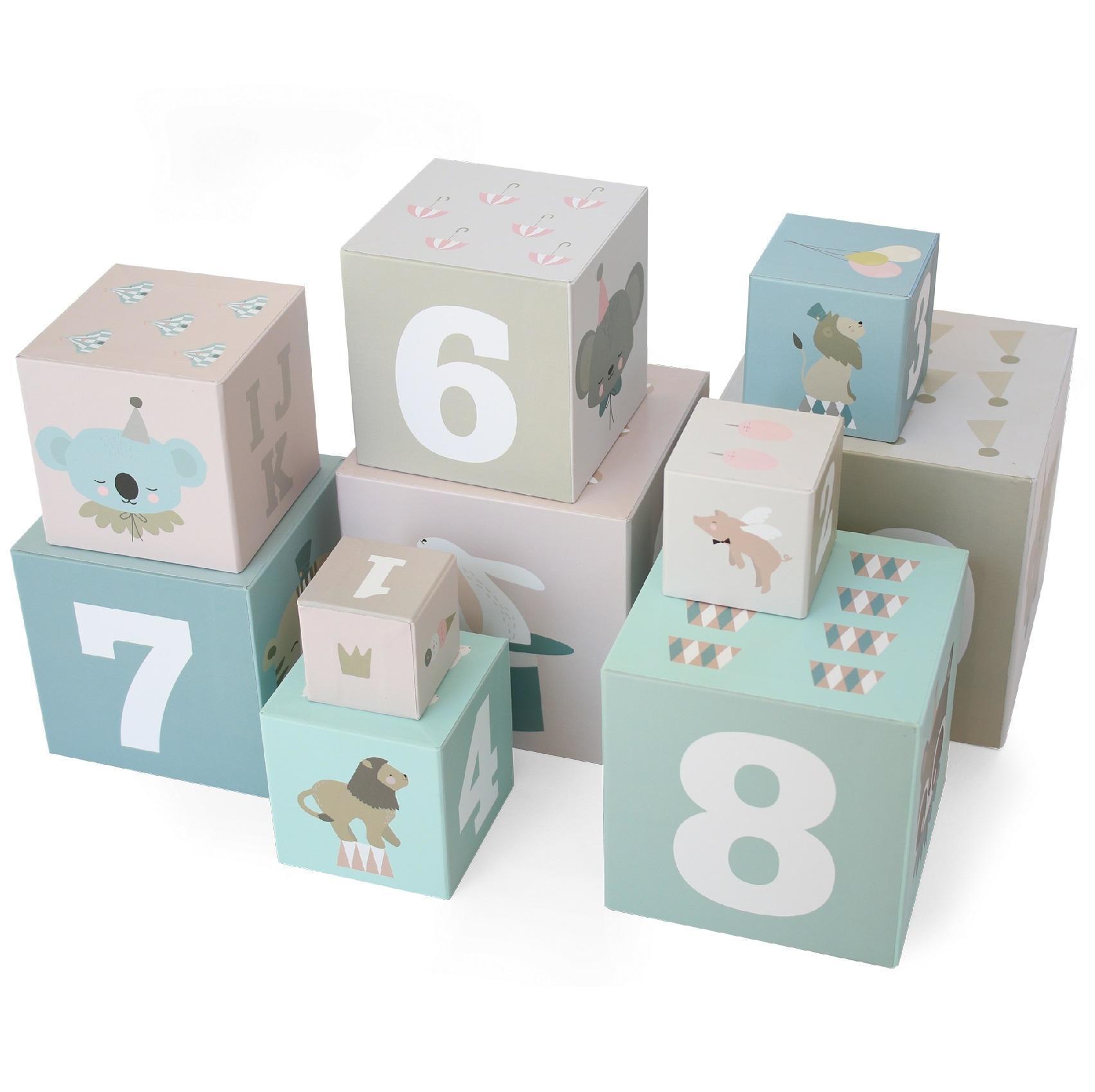 EEF lillemor Naučné papírové kostky Circus - set 10 ks, multi barva, papír