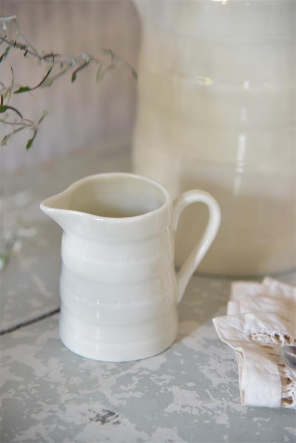 Jeanne d'Arc Living Porcelánový džbánek Signature 150 ml, krémová barva, porcelán