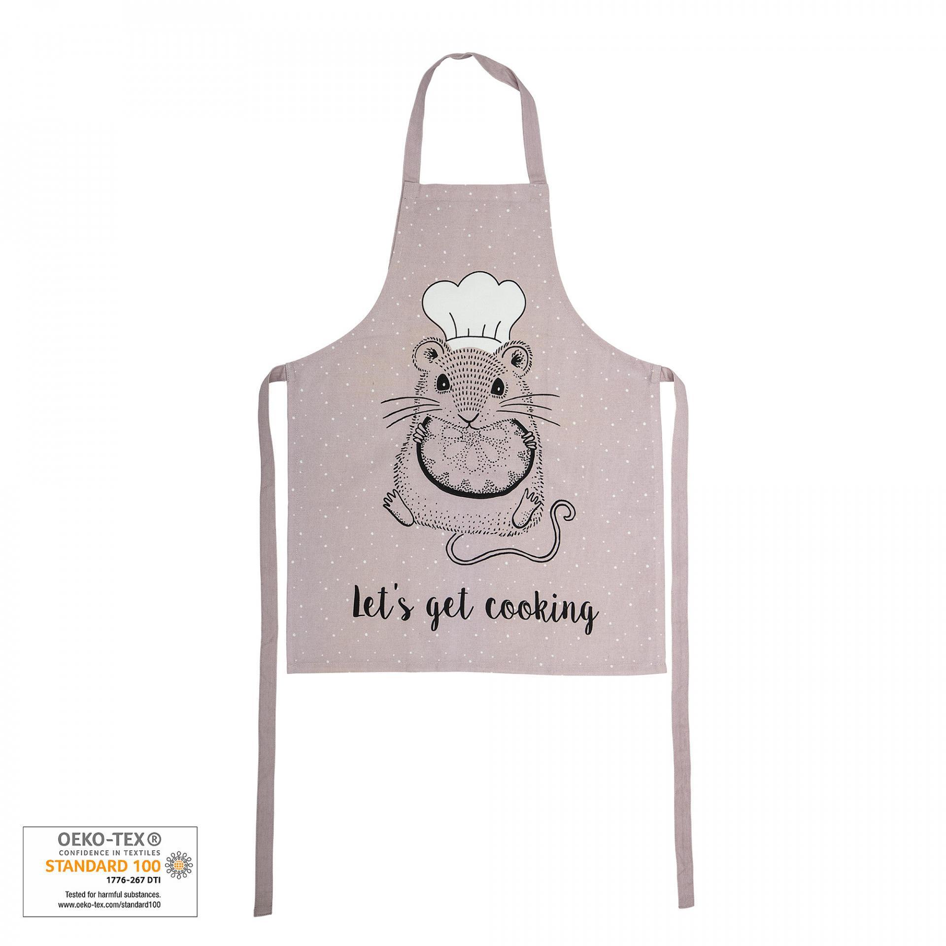 Bloomingville Dětská kuchyňská zástěra, růžová barva, textil