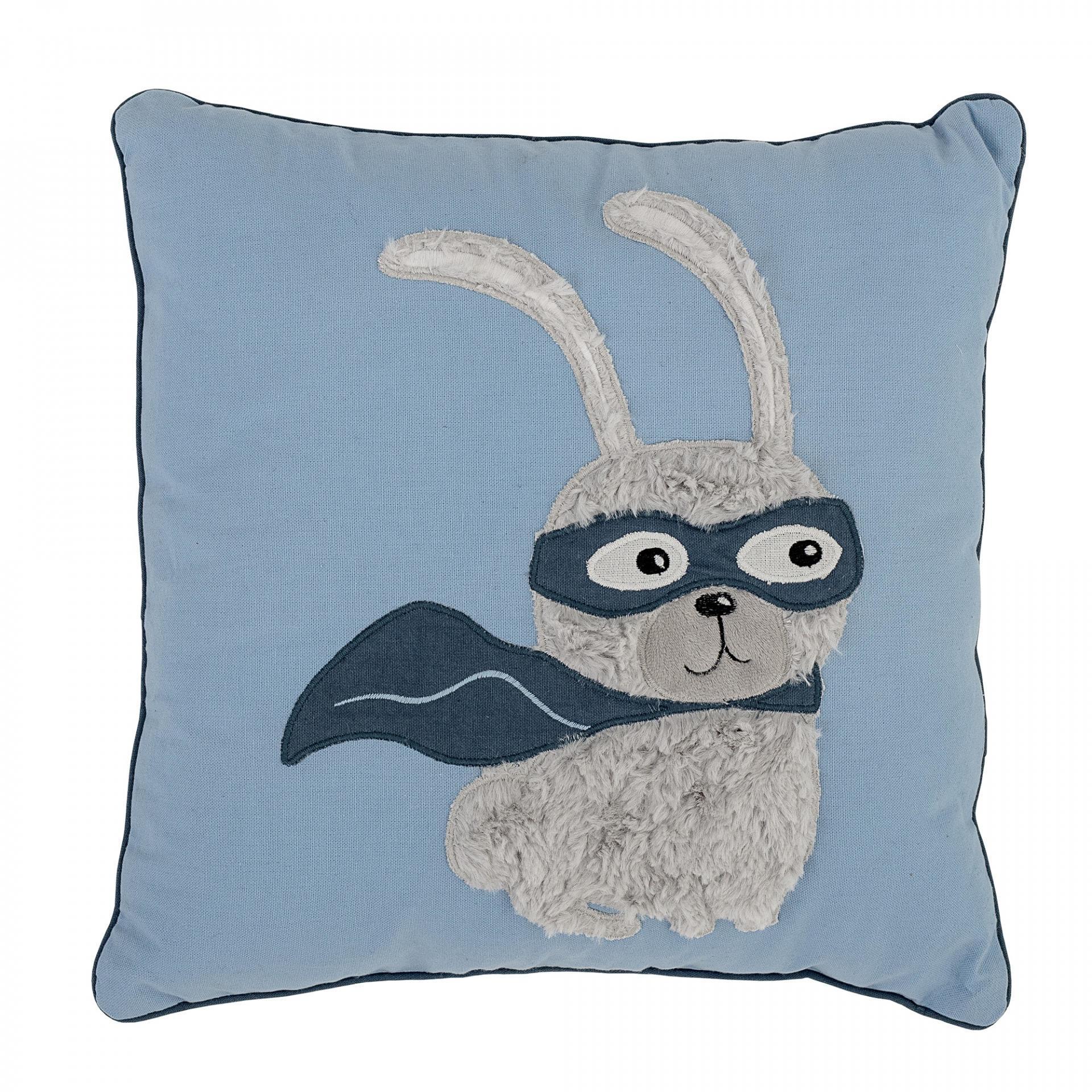 Bloomingville Dětský polštářek Superhero, modrá barva, textil