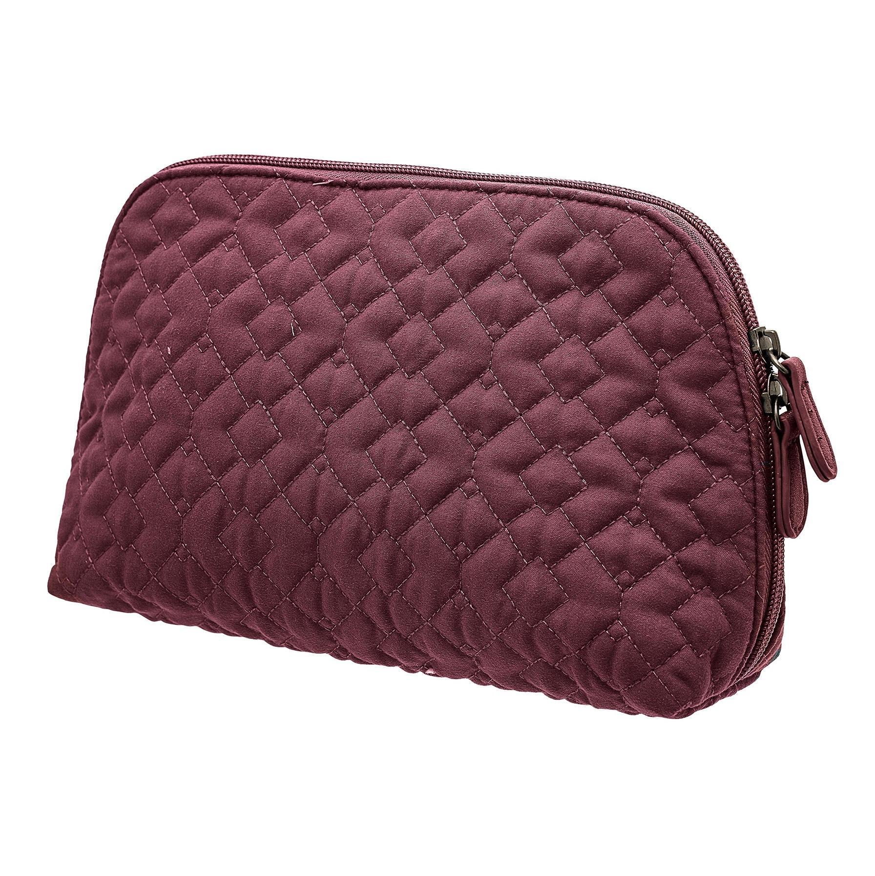 Bloomingville Prošívaná kosmetická taška Red, červená barva, textil