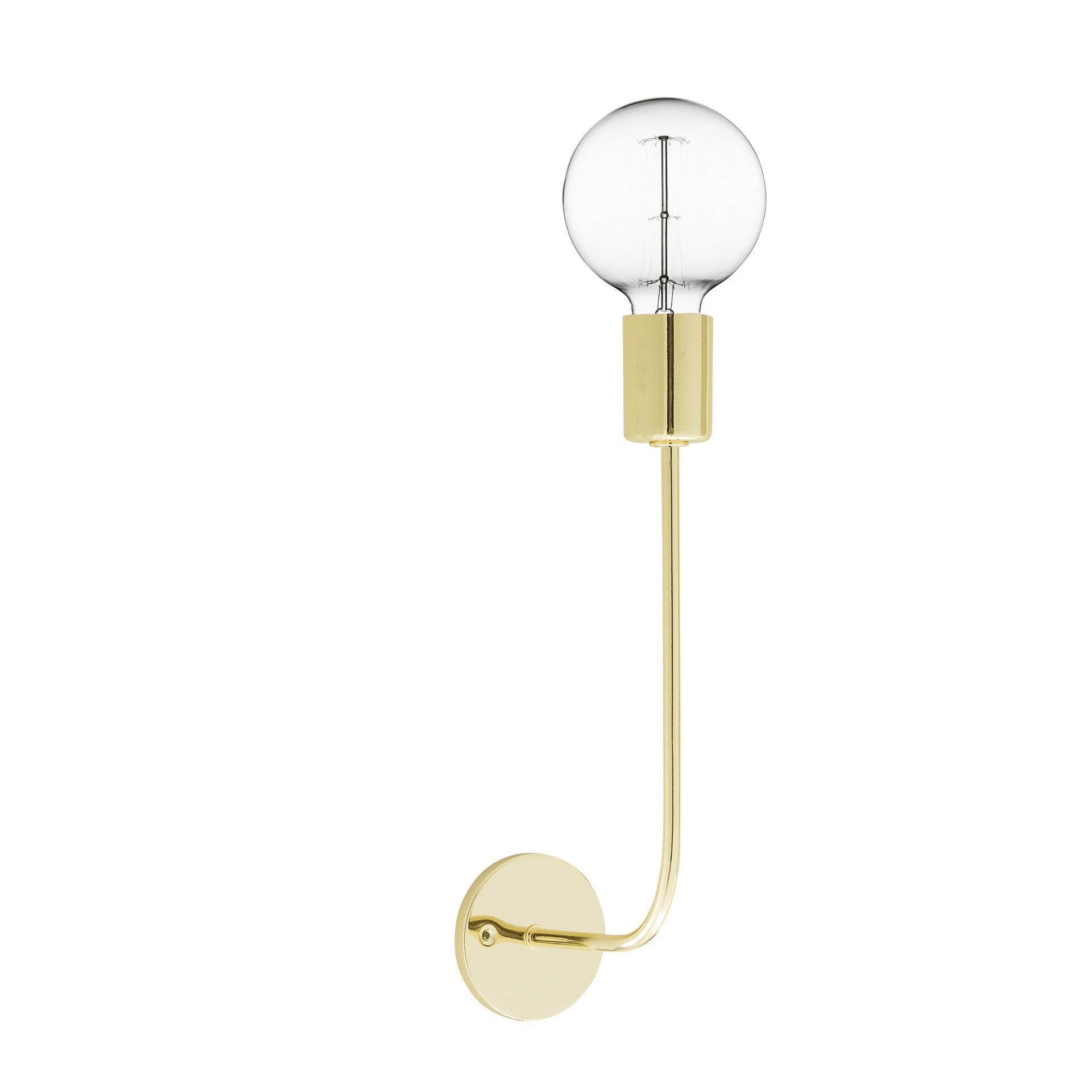 Bloomingville Nástěnná lampička - Distinctive Gold, zlatá barva, kov