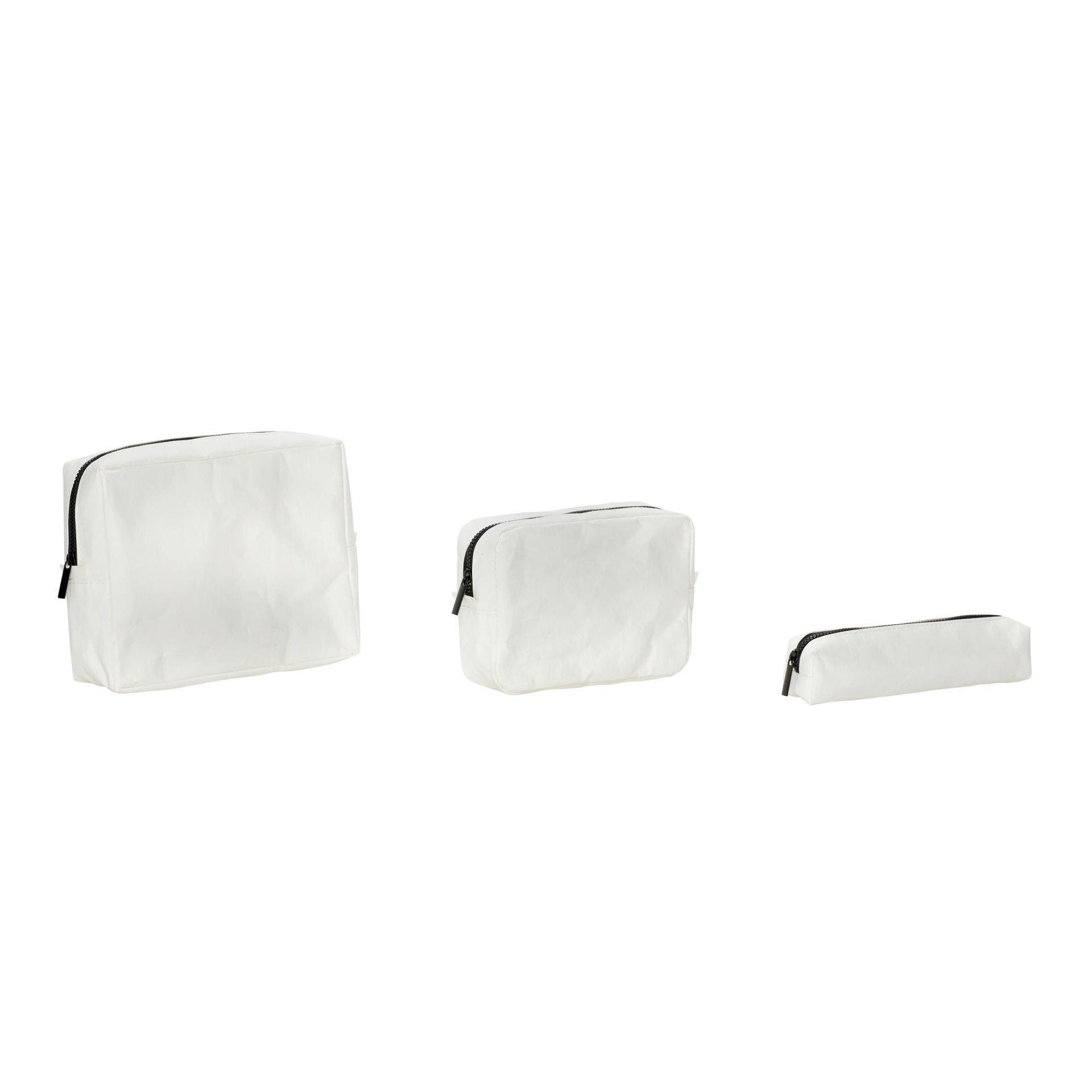 Hübsch Toaletní taštička White Velikost S, bílá barva, plast, papír