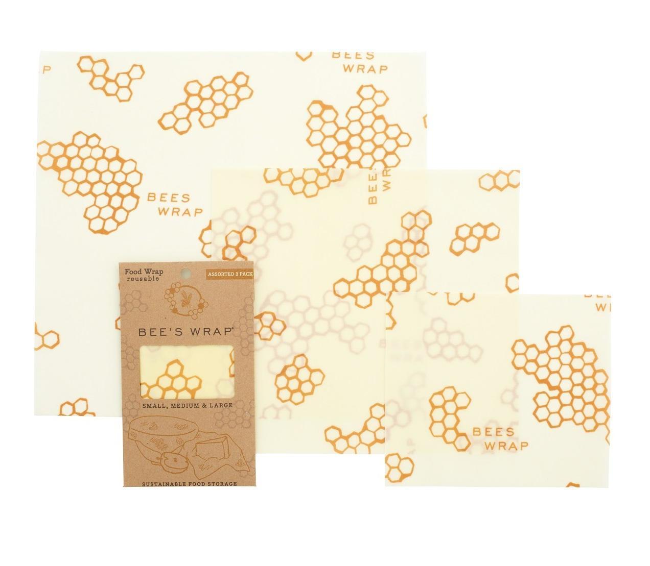Bee's Wrap Ekologický potravinový ubrousek-3ks, žlutá barva, textil - Bee's Wrap Ubrousek voskovaný 3ks 17,5-33cm