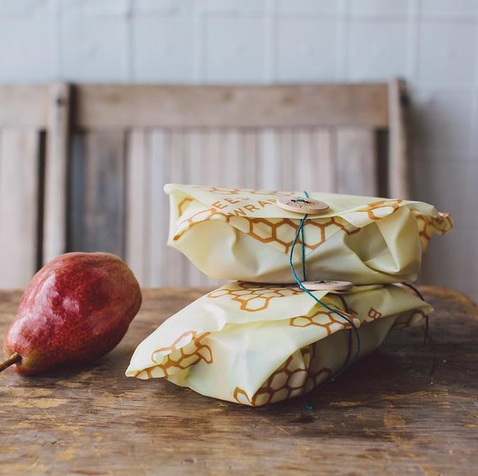 Bee's Wrap Ekologický potravinový ubrousek Sandwich, žlutá barva, dřevo, textil