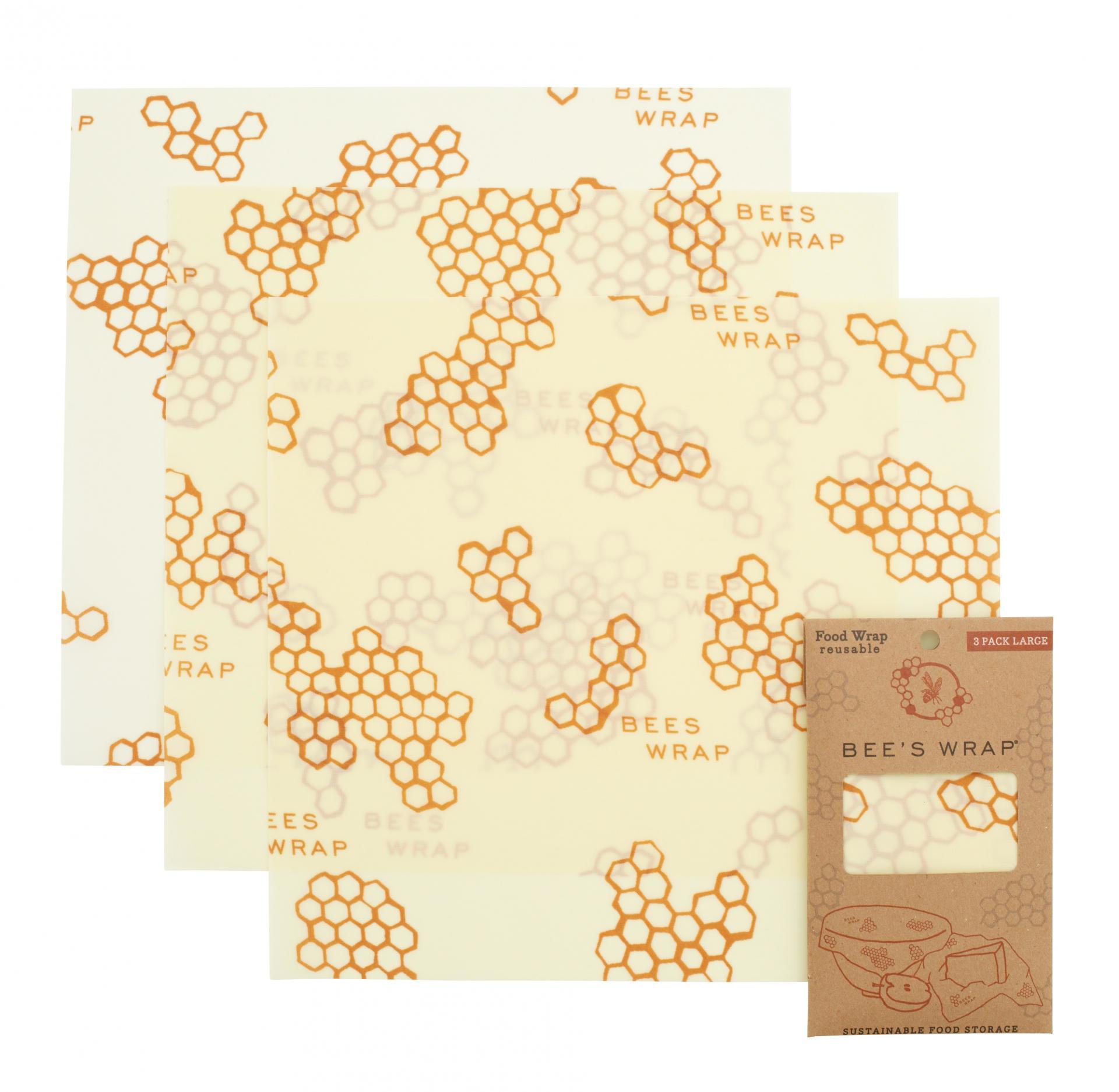 Bee's Wrap Ekologický potravinový ubrousek Large-3ks, žlutá barva, textil