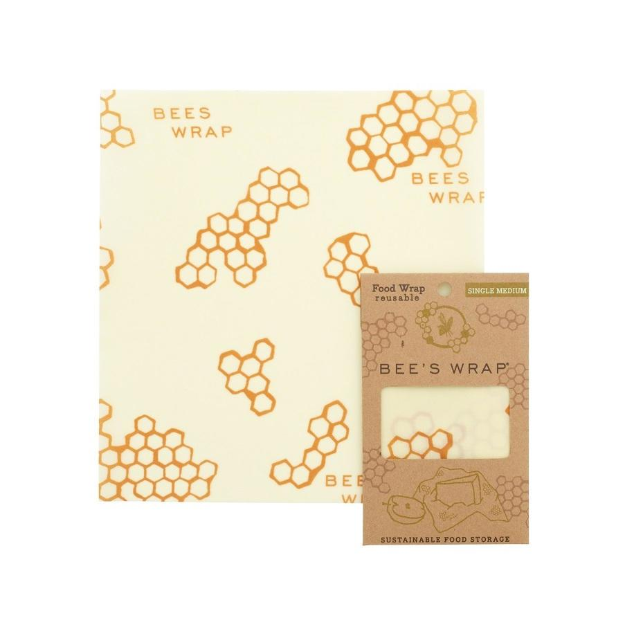 Bee's Wrap Ekologický potravinový ubrousek Medium, žlutá barva, textil