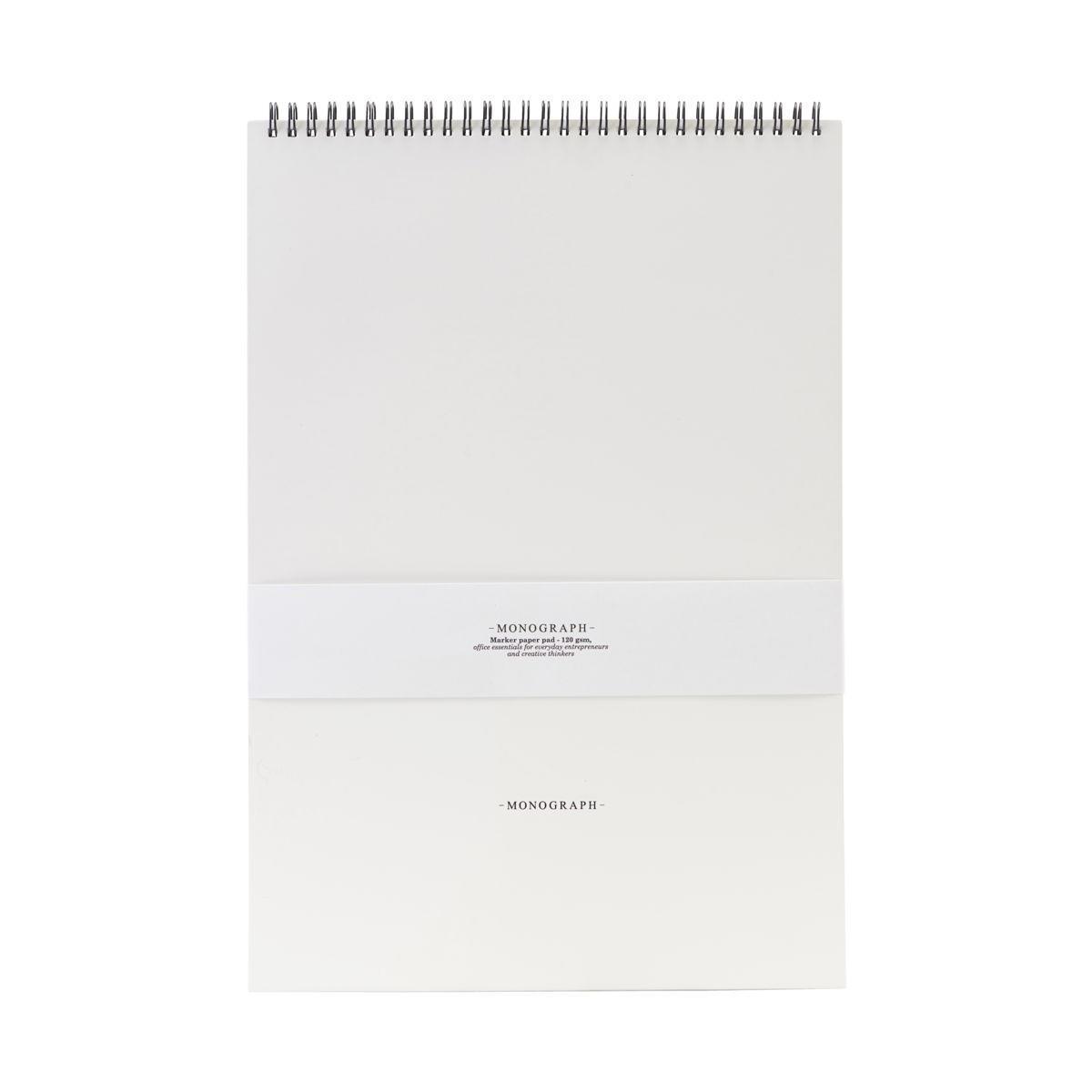 MONOGRAPH Kroužkový blok pro fixy a popisovače Marker - 16 archů, bílá barva, papír