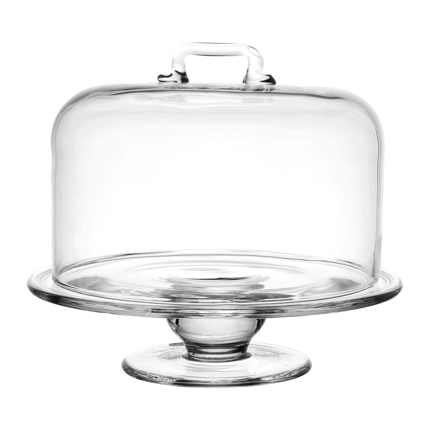 CÔTÉ TABLE Skleněný stojan s poklopem - Azelie, čirá barva, sklo