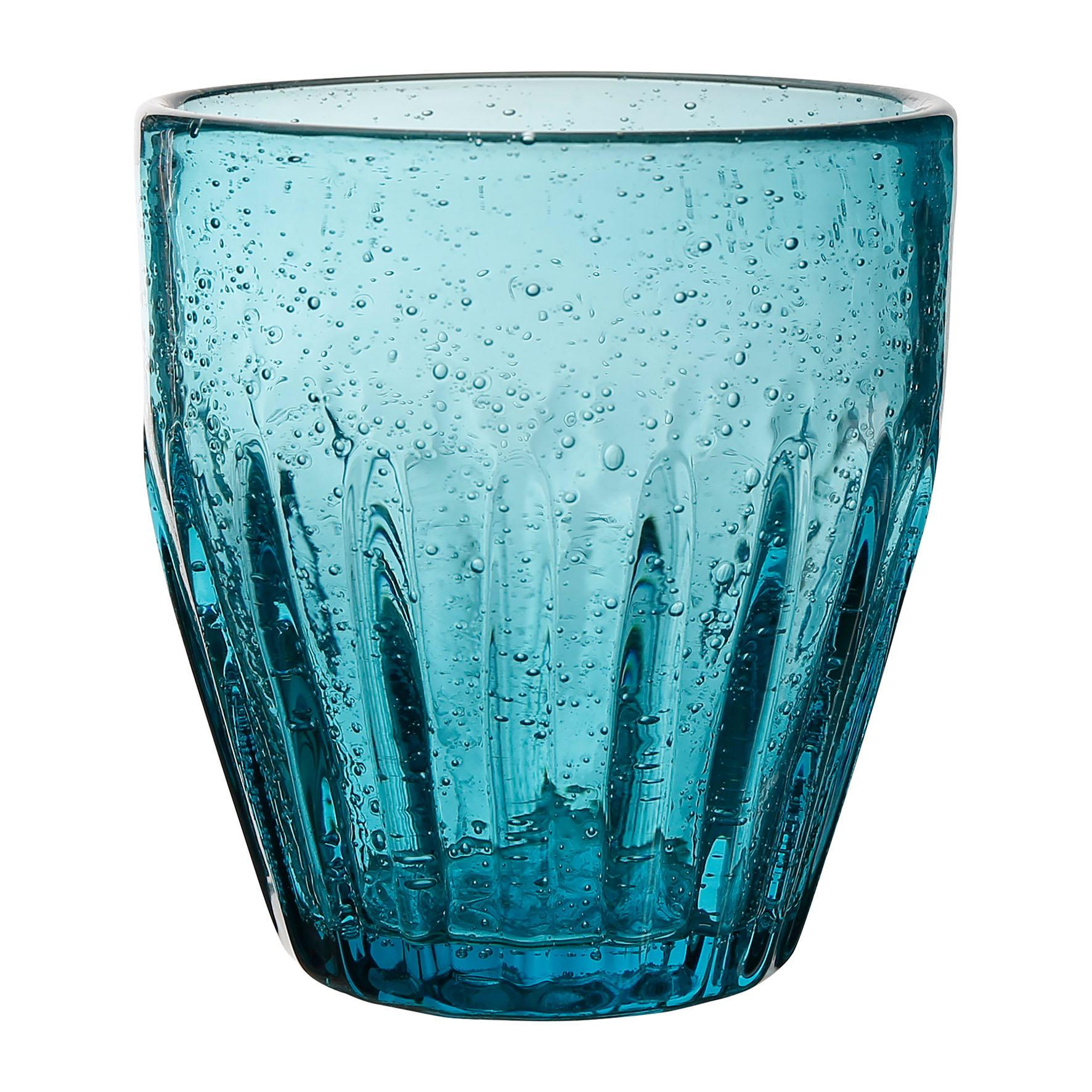 CÔTÉ TABLE Sklenice - Pernille Bleu, modrá barva, čirá barva, sklo