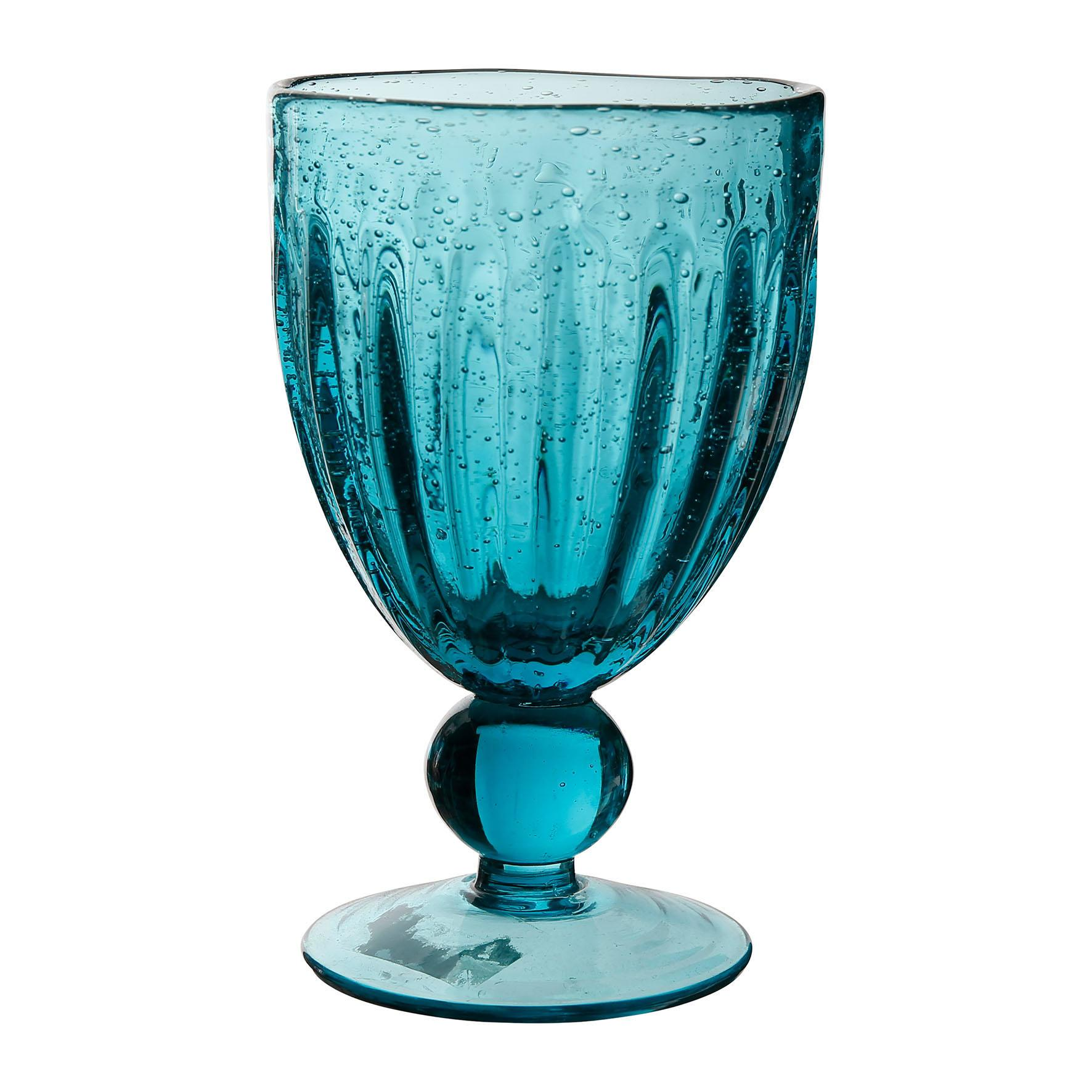 CÔTÉ TABLE Sklenice na víno - Pernille Bleu, modrá barva, čirá barva, sklo