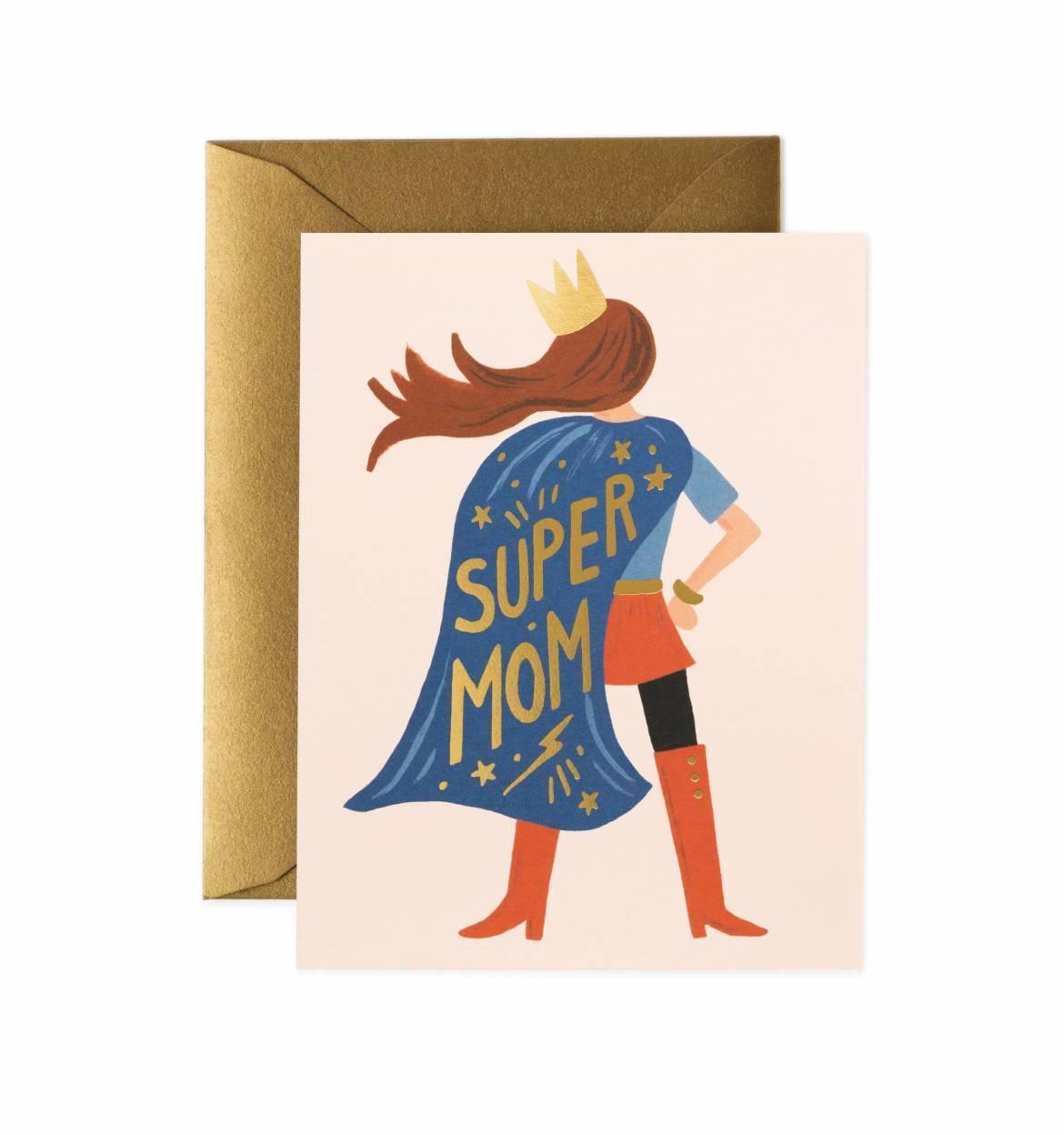 Rifle Paper Co. Přání s obálkou Super Mom, multi barva, papír