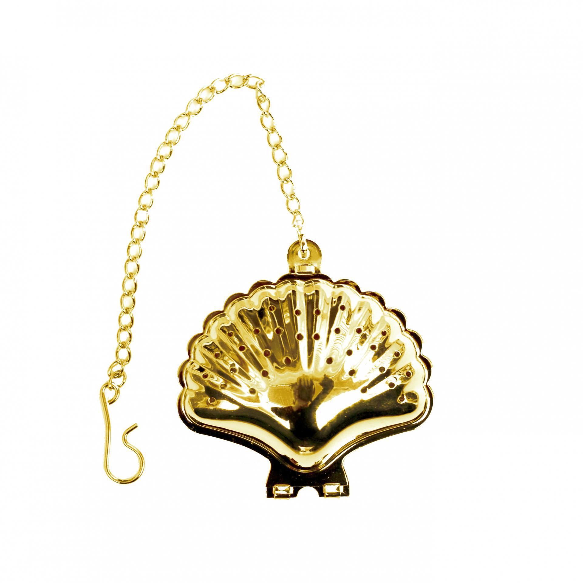 TAFELGUT Sítko na čaj Shell, zlatá barva, kov