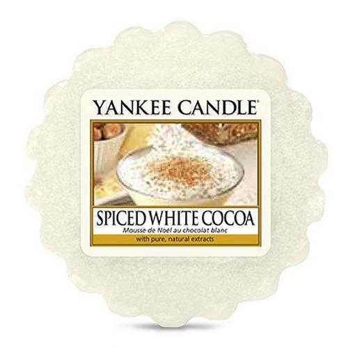Yankee Candle Vosk do aromalampy Yankee Candle - Spiced White Cocoa, krémová barva, vosk