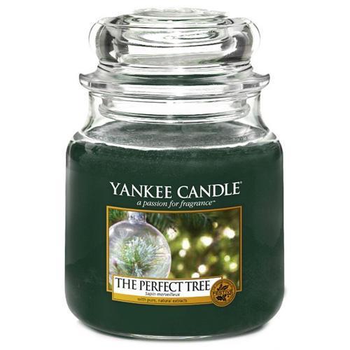 Yankee Candle Svíčka Yankee Candle 411gr - The Perfect Tree, zelená barva, sklo, vosk