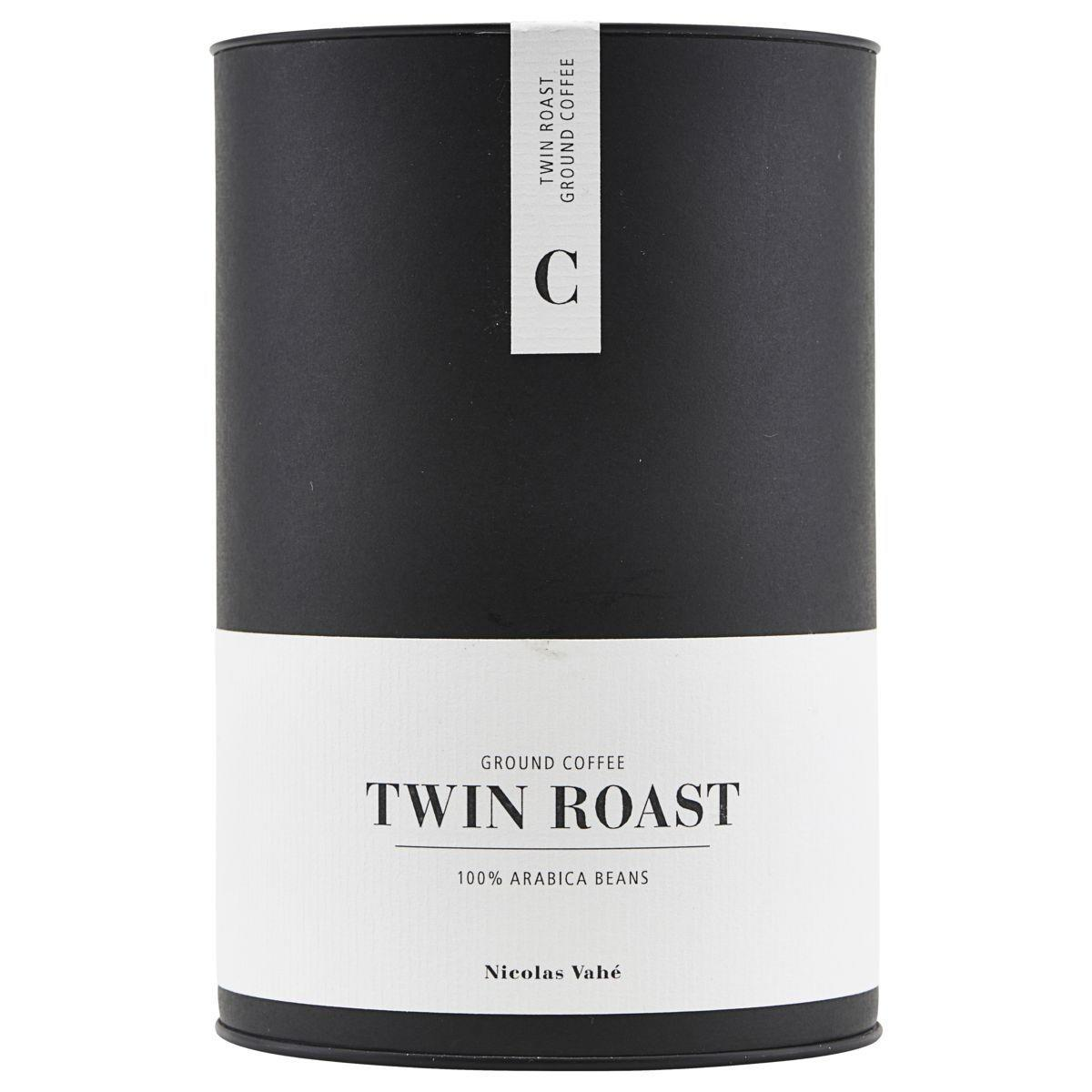 Nicolas Vahé Mletá káva - Twin Roast 165 g, černá barva, bílá barva, kov, papír