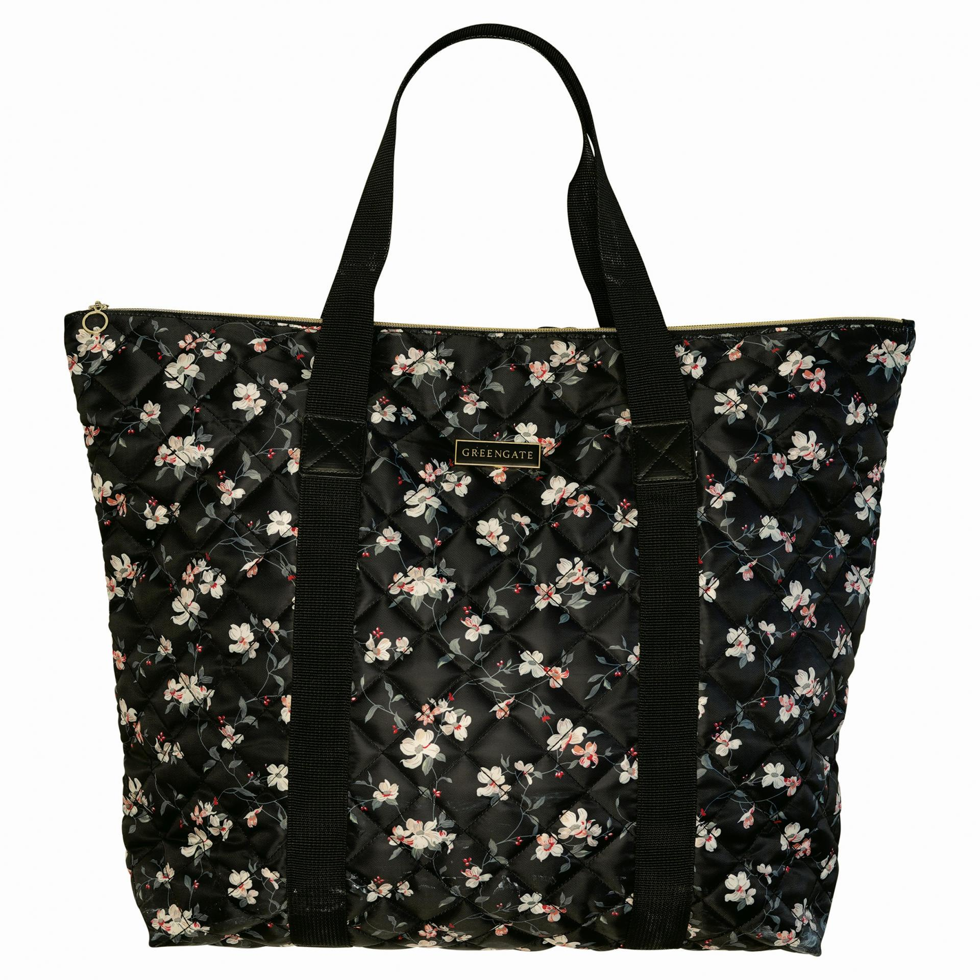GREEN GATE Velká taška Jolie Black, černá barva, textil