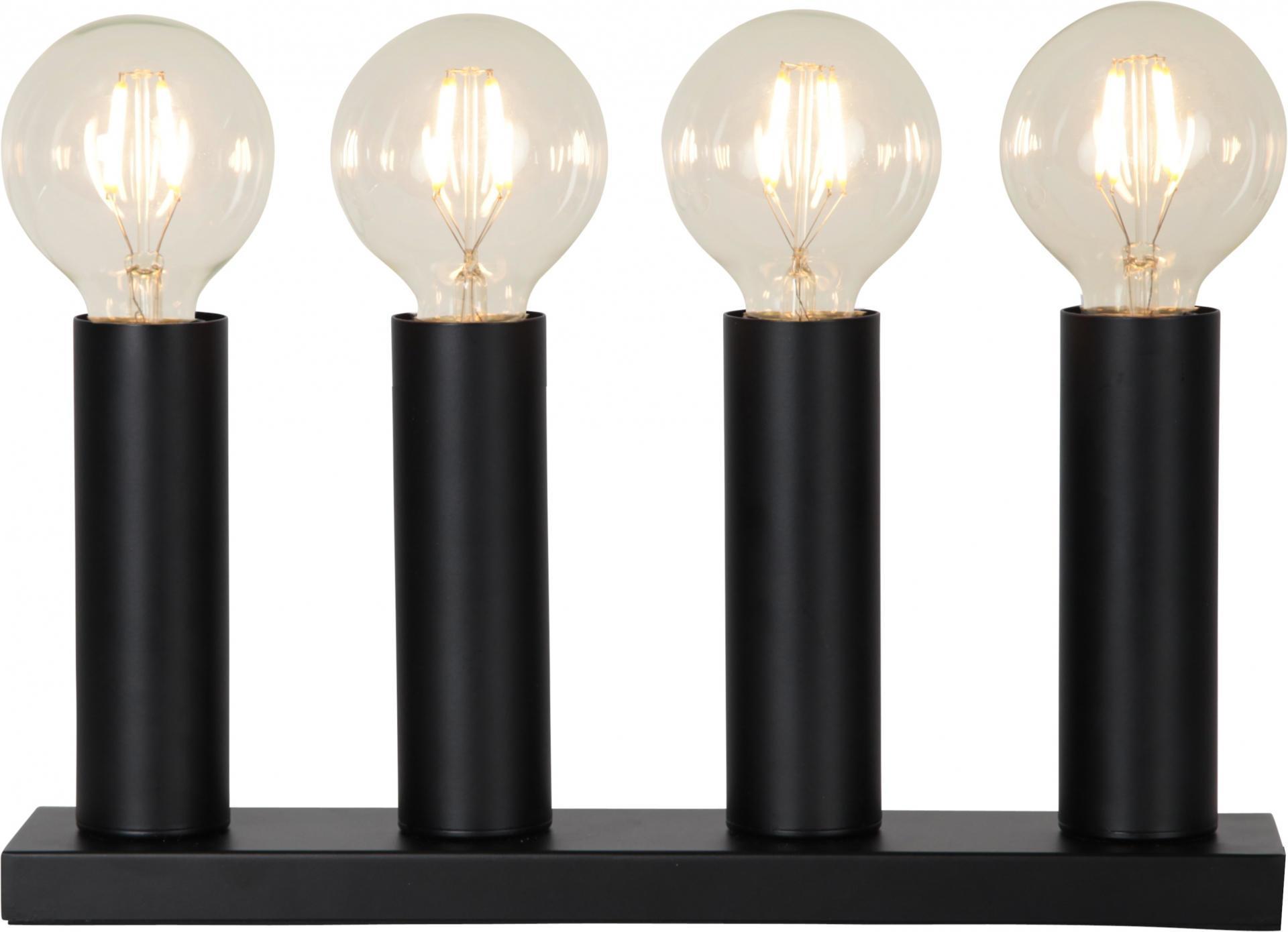 STAR TRADING Elektrický svícen - Candlestick Glans Black, černá barva, sklo