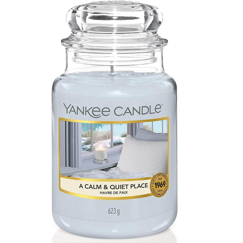 Yankee Candle Svíčka Yankee Candle 623gr - A Calm & Quiet Place, šedá barva, sklo, vosk